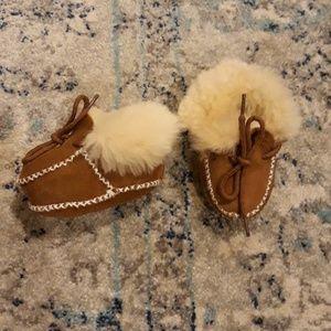 Cloud Nine Sheepskin Baby brown Moccasins